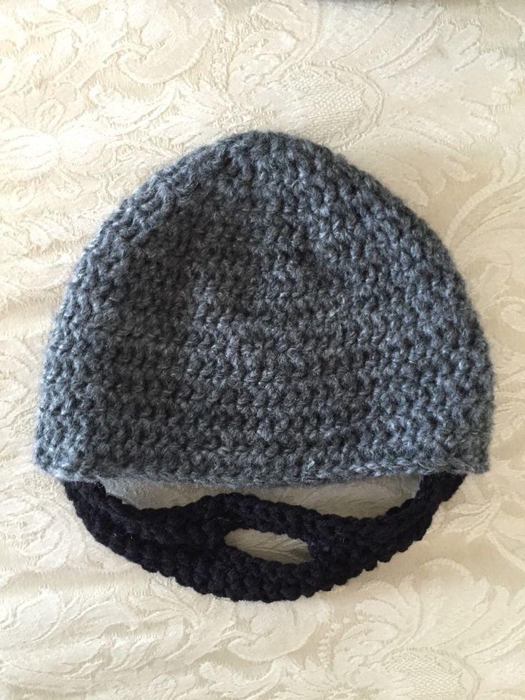 Beard Hat, Crochet beard hat, child beard hat, baby beard hat, adult beard hat by MollieJDesigns on Etsy https://www.etsy.com/listing/268815757/beard-hat-crochet-beard-hat-child-beard