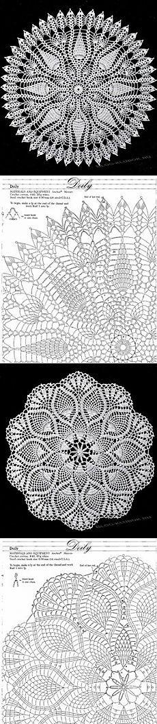 Ажурные салфетки крючком схемы