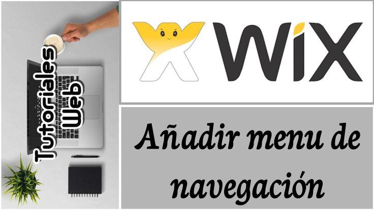 Wix 2017 - Añadir menu de navegación (español)