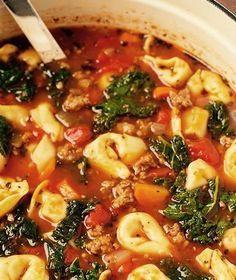 Healthy Crock Pot Italian Tortellini Soup - 21 Day Fix Approved