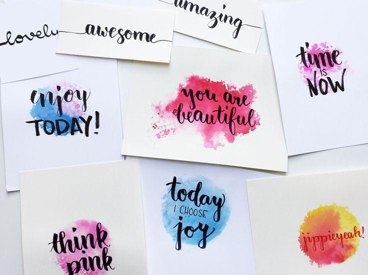 Handlettering – kreatives Schreiben, wie du einfach Lettering lernen kannst