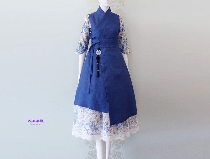 21주년 의봉 조영기 한복 디자이너 아름다운 우리 옷을 그리다... 시원한 여름을 위하여 청자색 천의반비 ...