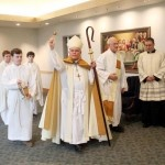 Archbishop Charles Chaput blessed the new Life Center at St John Neumann Parish in Bryn Mawr, Delaware County on Monday, June 3. The Life Center provides an additional 14,000 square feet of usable space to the parish.