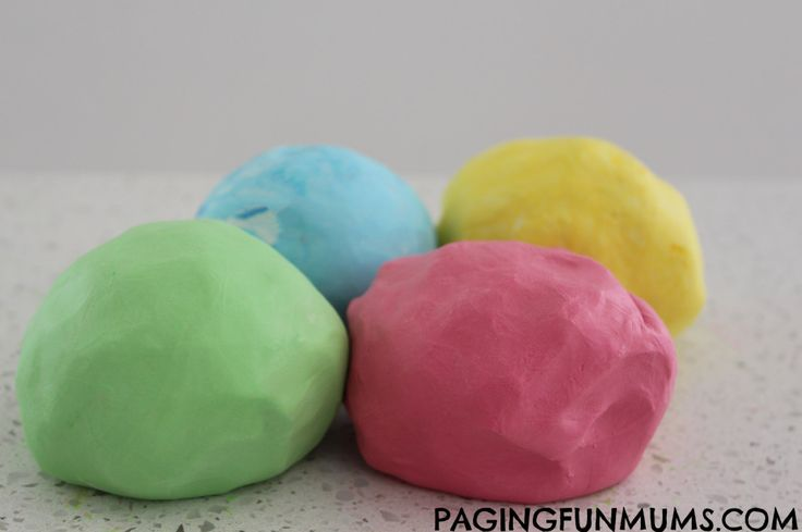Soft as a Cloud Playdough…using only 2 ingredients!