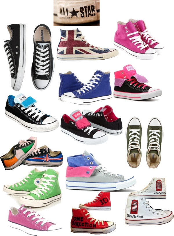 I need like all these converse shoes please!! Especially the British ones, the Irish an British ones, the Take Me Home ones and the ones with One Direction on them!!! My needs. :]