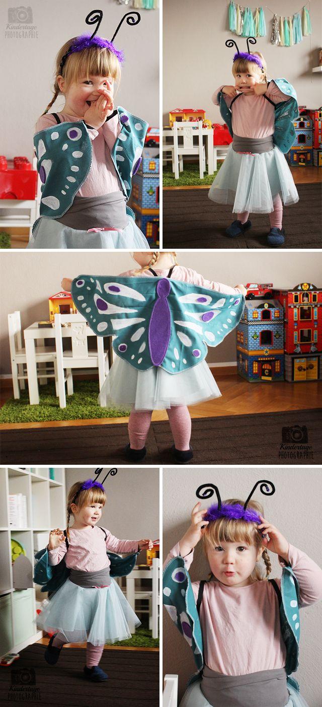 Der süsse kleine Schmetterling verschönert jedem Mädchen den Faschingstag. | Beautiful butterfly for girls to sew yourself