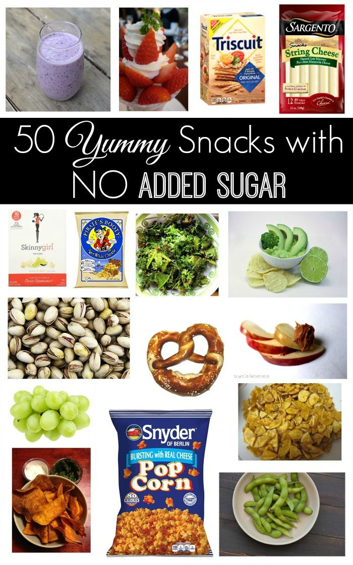 If you counted all the added sugar you or your kids eat in a day, you would be ASTOUNDED. It's everywhere! Here are 50 yummy snacks with NO added sugar!