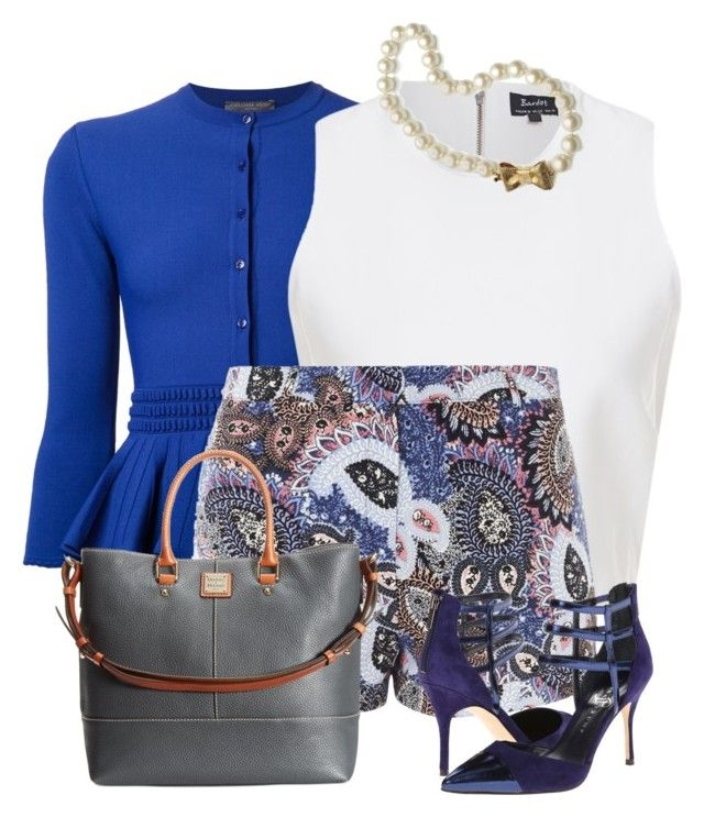 """Buttoned-Up Cardigan and Shorts"" by nefertiti1373 ❤ liked on Polyvore"