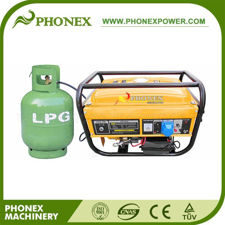 Phonex 5KW 5KVA LPG Gas Generator Price Power Generator Natural Gas & Gasoline Dual Gas Generator