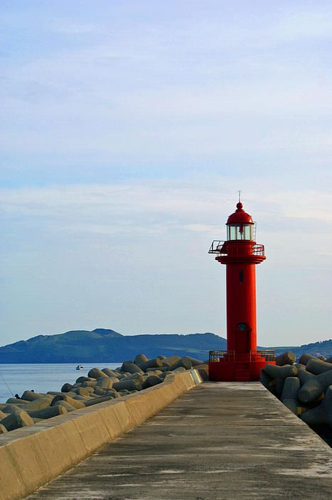 Famous lighthouse @Jeju Island