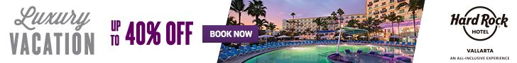 New Offers and Deals: 10% Off at Hardrock Hotels  BOOK NOW  Exclusive 10% off  Hardrock Hotels in Punta Cana Cancun Vallarta and Riviera Maya  Description: Get an unforgettable rock star vacation with additional 10% off your vacation at the Hotel! Combinable with up to $3600 USD Limitless Resort Credit promotion. This code is valid for the following hotels:  Punta Cana  Cancun  Vallarta  Riviera Maya  Terms and Conditions  -This voucher code is only valid for users from USA.  Non-refundable…
