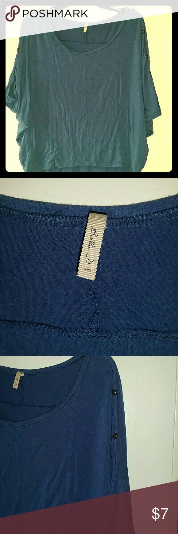 Bella D Boutique Shirt Navy Blue; soft cotton; shorter on the torso Bella D Tops Tunics