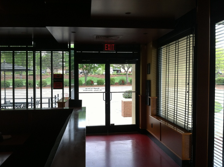 Only some of this glass at Pei Wei Asian Diner has film on it.  Can you tell where it is?  3M Prestige window tint blocks UV rays and provides heat reduction while remaining practically invisible on the glass.