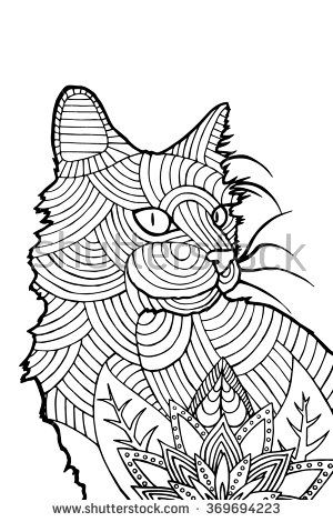 24 Best Cat Templates To Zentangle Images On Pinterest