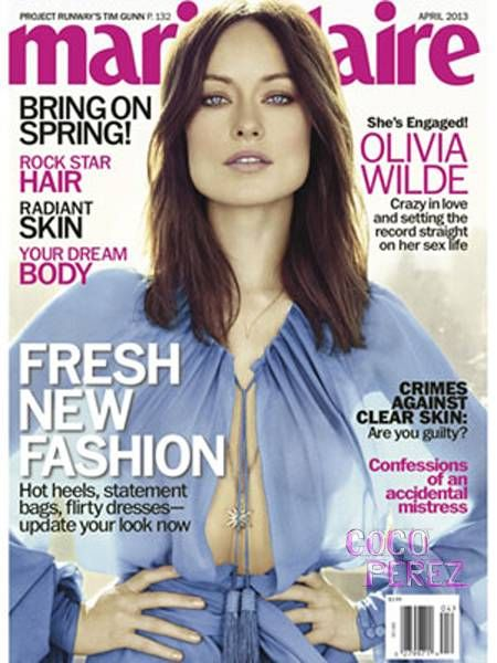Olivia Wilde on the cover of Marie Claire