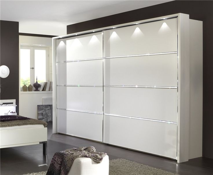 Riyadh by Stylform - Sliding Door Wardrobe White with Crystals