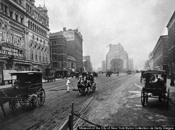 Times Square (entonces llamada Long Acre Square), Nueva York, alrededor de 1908