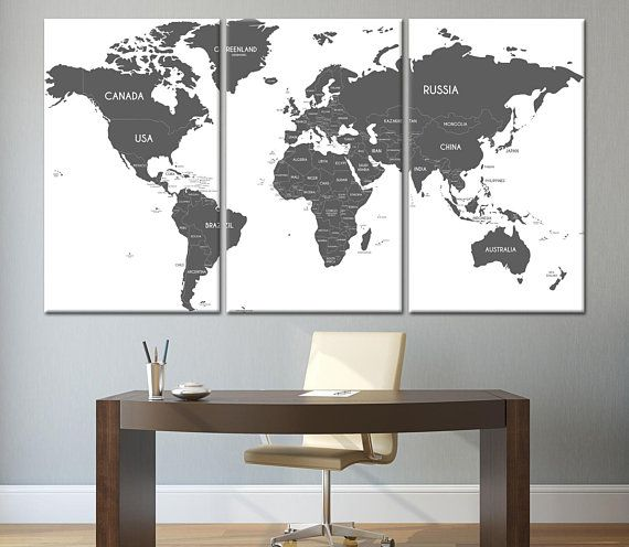 The 40 best world map canvas images on pinterest extra large wall world map canvas world map poster world map print wall art custom world map large map gumiabroncs Images