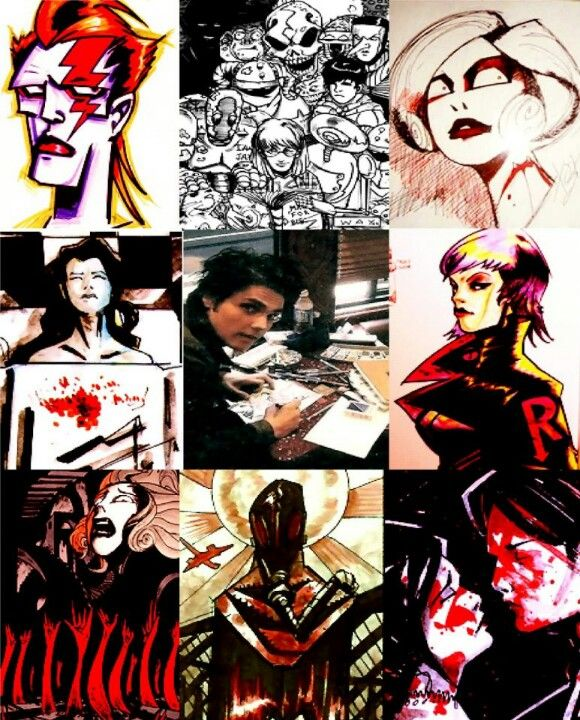 Gerard Way's art || he's so talented I just *flails arms in attempt to show amount of talent*