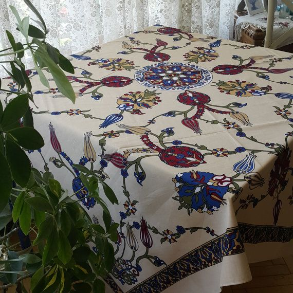 Check out this item in my Etsy shop https://www.etsy.com/listing/468141165/rectangular-floral-cotton-tablecloth