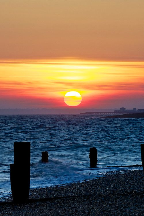 Sunset over Hayling Island