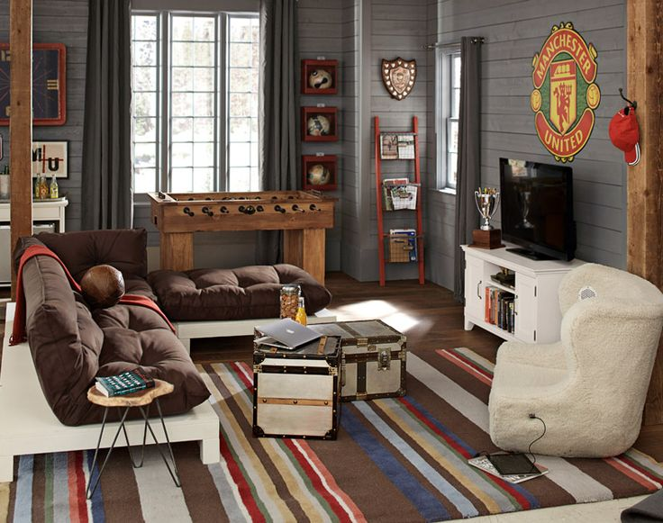 Lounge Room Decorating Ideas | Colorful Rug | PBteen