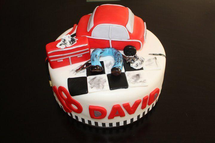 Mechanics birthday cake
