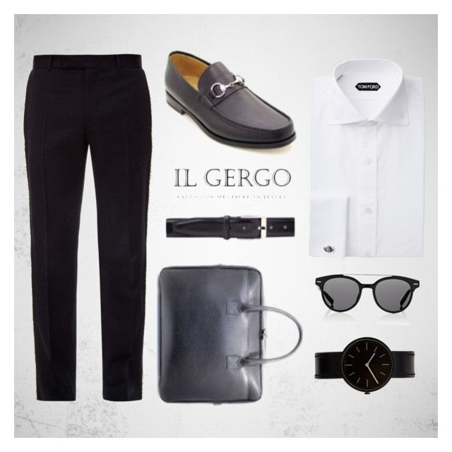 """Il Gergo Nuccio"" by paolo-rossi on Polyvore featuring Alexander McQueen, Dior Homme, Uniform Wares, men's fashion, menswear, loafers, business, mocassins e ilgergo"