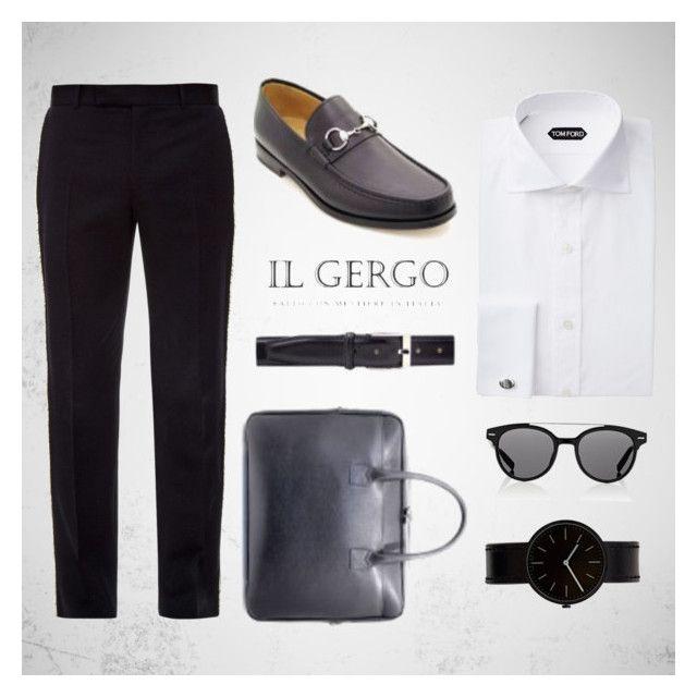 """Il Gergo Nuccio"" by paolo-rossi on Polyvore featuring Alexander McQueen, Dior Homme, Uniform Wares, men's fashion, menswear, loafers, business, mocassins e ilgergo"