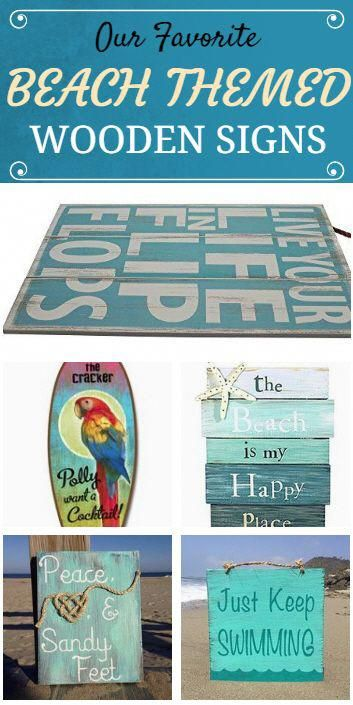 78cb9e253 Check out our favorite beach themed wooden signs at Beachfront Décor! These  beach