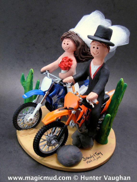 Honda Dirt Biker's Wedding Anniversary Gift    KTM, Honda, Suzuki, Yamaha, Kawasaki, BMW….any model of dirt bike can be incorporated into your off road motorcycle wedding cake