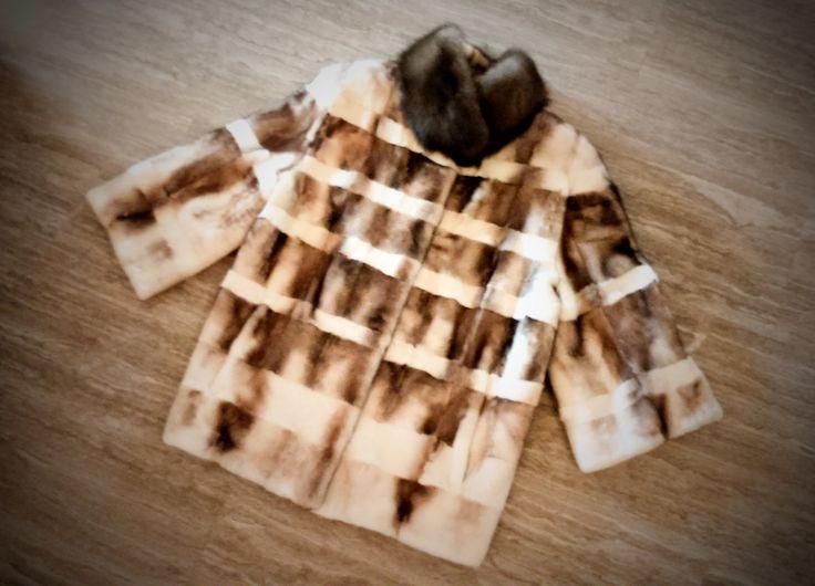 Fur Jacket/ Real fur/ Mink fur with sable fur collar by ReginaFurs on Etsy