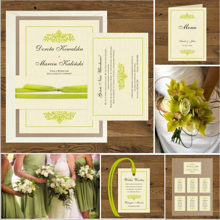 Zaproszenia ślubne oryginalne zielone