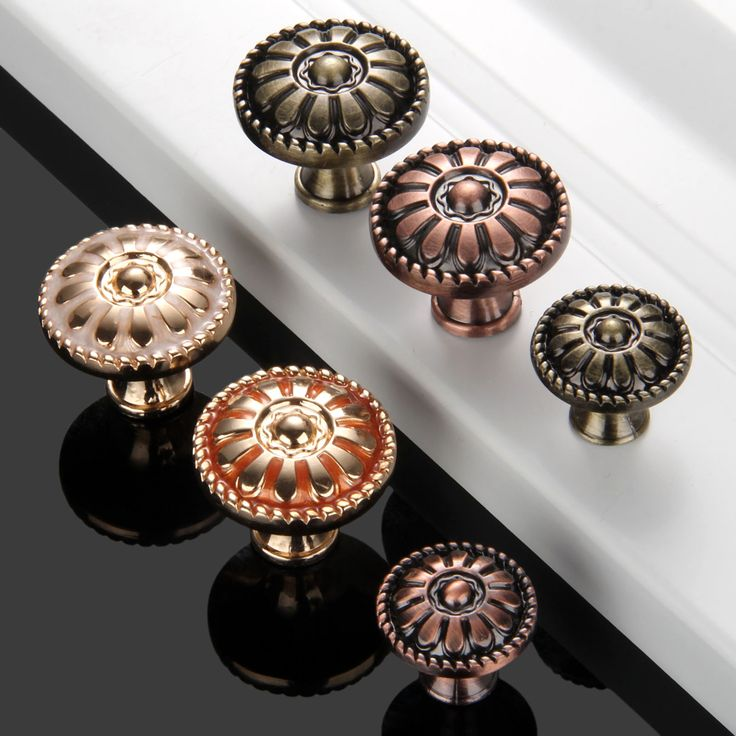 1Pc Antique Furniture Handles Cabinet Knobs and Handles Door Cupboard Drawer Wardrobe Kitchen Pull Handles Furniture Fittings