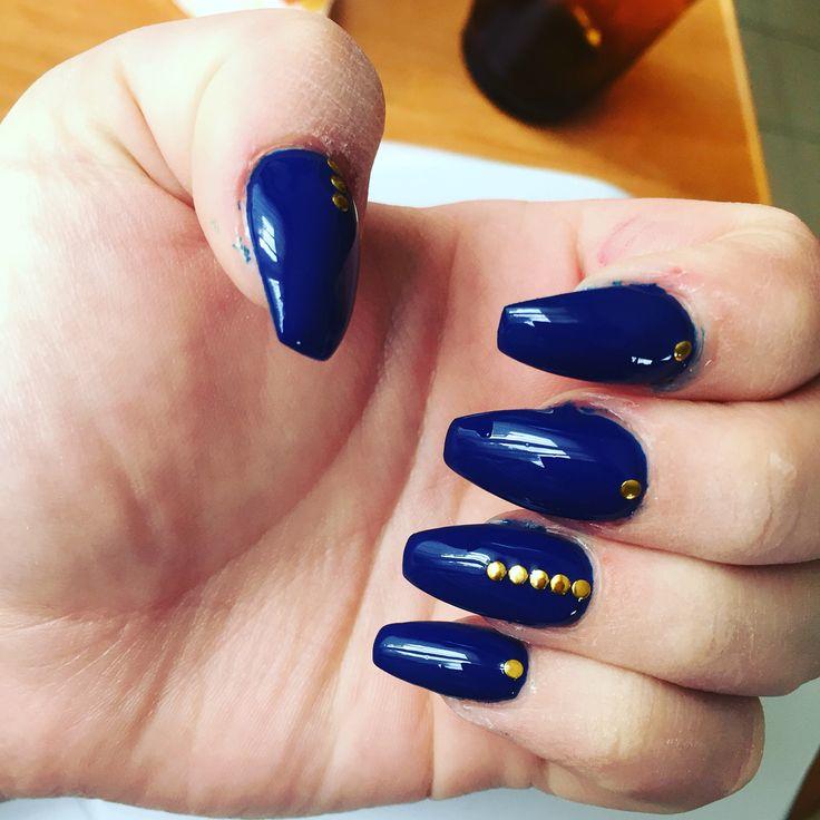 Nails#blue#gold#lovenails#