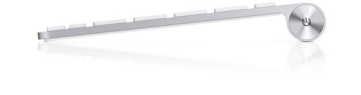 Apple - Clavier sans fil Apple - Découvrez ce clavier sans fil incroyablement fin.