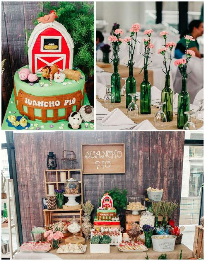 Rustic Barnyard Birthday Party Via Kara S Party Ideas
