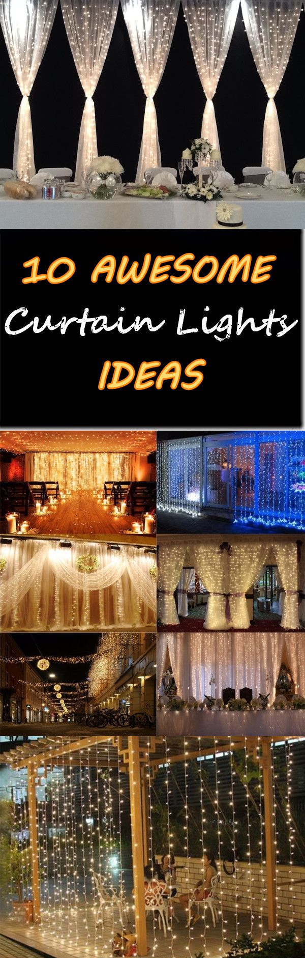 10 Awesome curtain lights ideas :) Click the picture or the Visit button you can get it ~Cheers