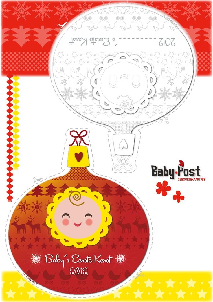 Printable   Baby's Eerste Kerst