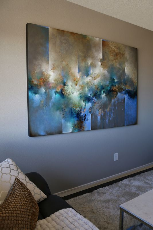 I create a diverse range of acrylic works on 2 deep, all-wood panels (black painted edges). My main goal when painting is to create unforgettable, dynamic work. I focus on combining natural elements...