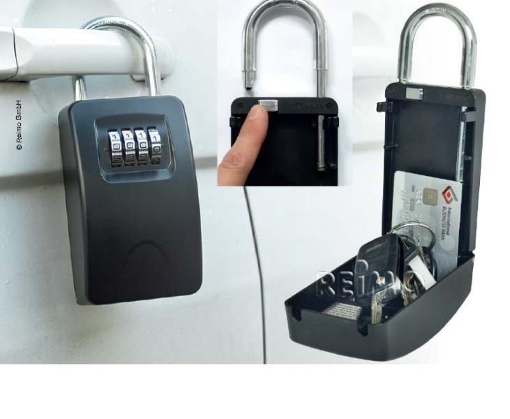 Reimo - Schlüsseltresor mit stabilem Haltebügel und Zahlenschloss