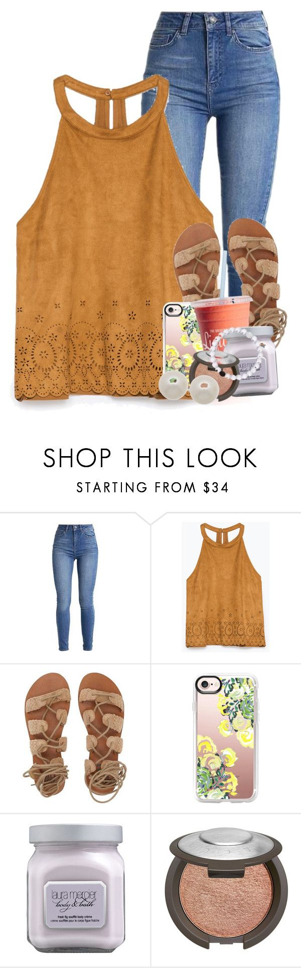 """""""THANK YOU FOR 100 ❤️"""" by emilyandella ❤ liked on Polyvore featuring Zara, Billabong, Casetify, Laura Mercier, Becca and Honora"""
