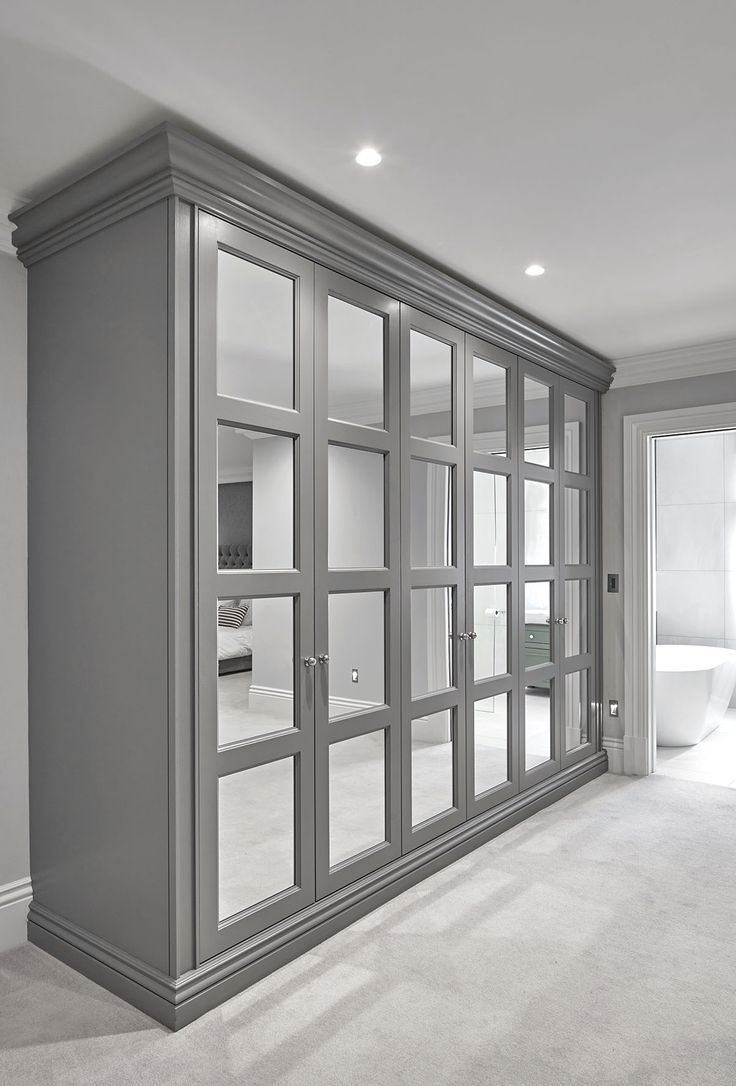Image result for shaker closet doors with mirrors