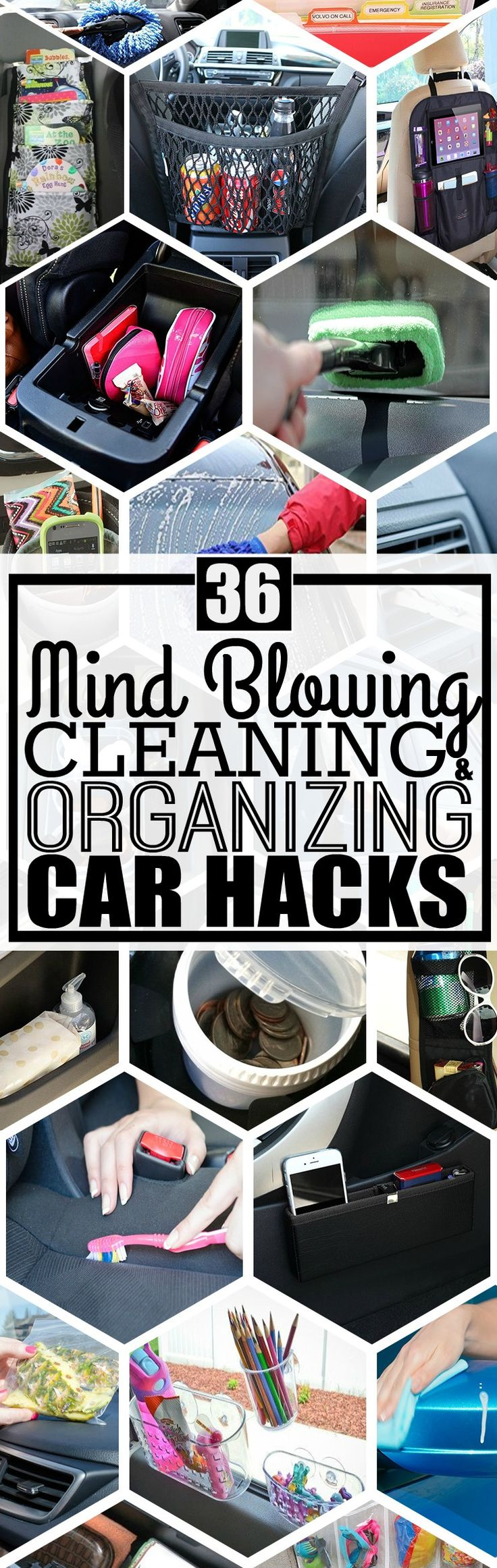 Keep your car organized and clean with these awesome car organization ideas and car cleaning tips. You have to read these tips on how to organize your car, car cleaning tips, and more.