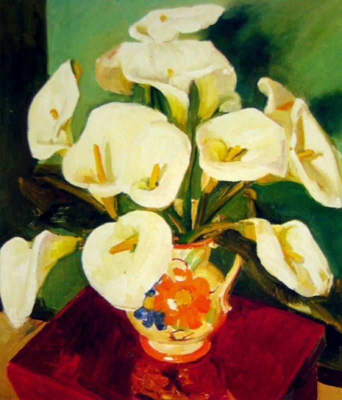Still Life with Arum Lilies, 1920 Margaret Preston