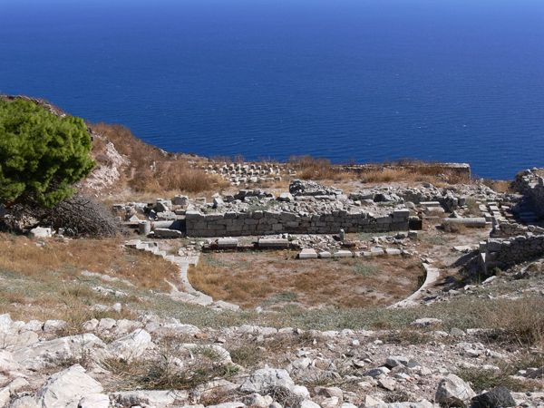 Ancient #Thera was the center of the island in long before. It is located on to of a mountain offering stunning views over the vast #Aegean Sea.