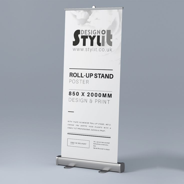 With these Aluminium Roll-up Stand, we'll ensure you inspire your clients with a simply yet professional design & print.  Aluminium Roll-up Stand are essential for business communication. Spread the word the simple way!  Aluminium Roll-up Stand + Poster Design & Printed Free Delivery within UK