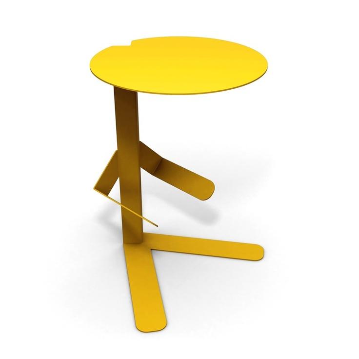 Tavolino Mr T giallo by Caoscreo $303