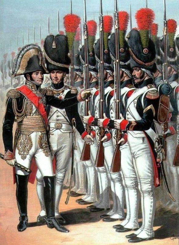 Marshal Soult reviewing the Chasseurs A Pied de la Garde
