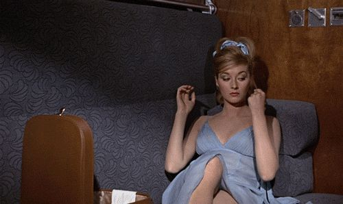 Daniela Bianchi in Terence Young's From Russia with Love (1963).